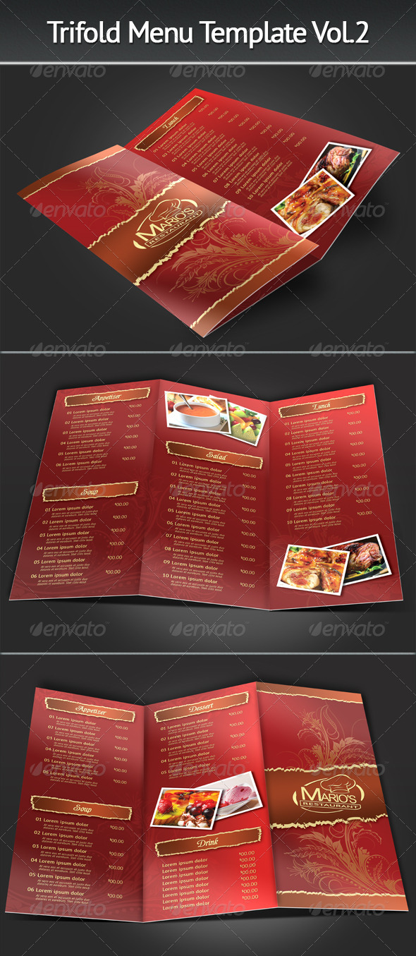 25+ Food Menu Design PSD for Restaurant