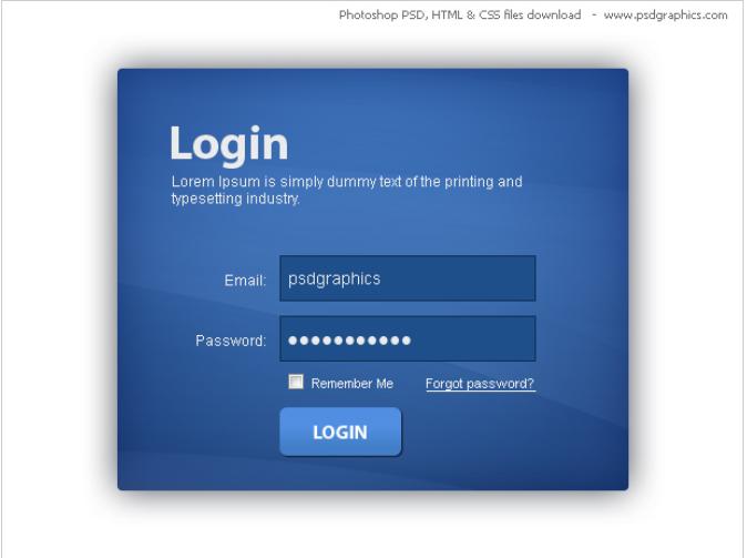35  nice free css html login form templates