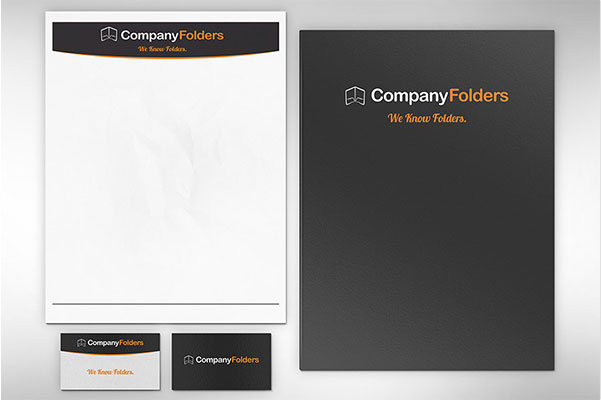 Folder, Letterhead & Business Card Mockup Template