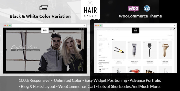 Hair Salon - WooCommerce Responsive Theme