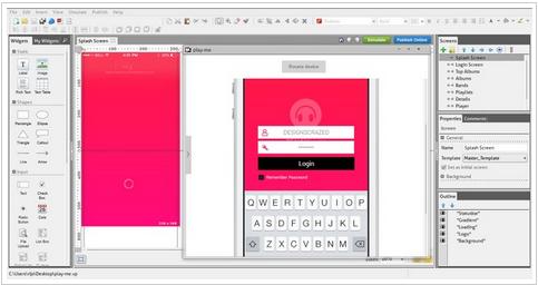 Justinmind – Free WireFraming Prototyper