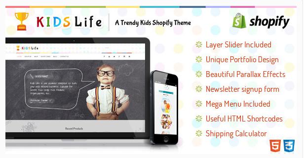 KidsLife Responsive Shopify Theme