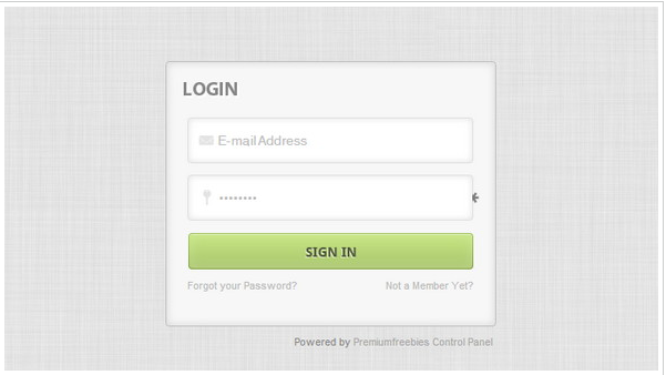 Login Form (Coded)