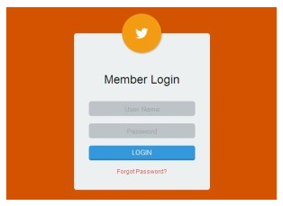 Login Form Template with HTML and CSS