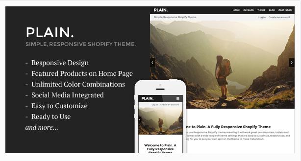 Plain - Responsive Shopify Theme
