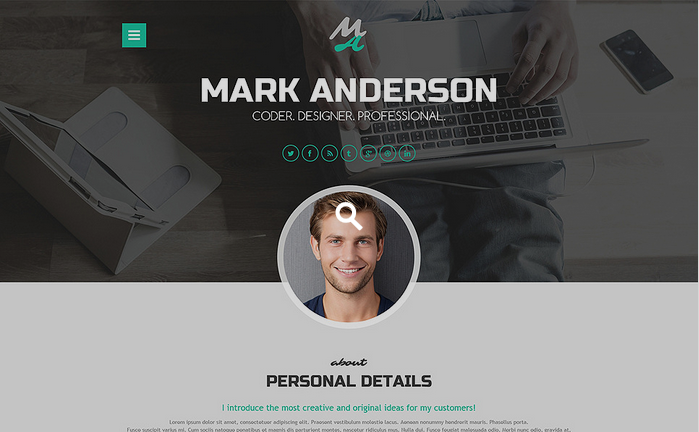 Professional CV WordPress Theme