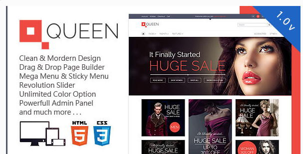 Queen - Responsive WordPress WooCommerce Theme