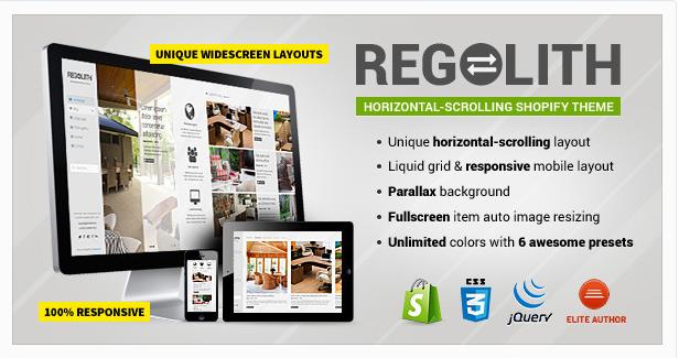 Regolith — Responsive Horizontal Shopify Theme