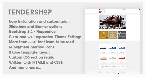 Tendershop - Minimal Responsive Shopify Theme