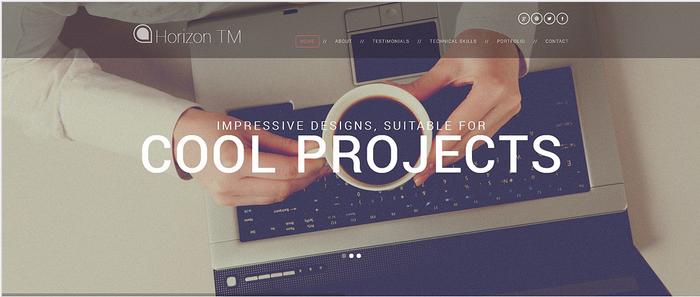 Web Design CV WordPress Theme