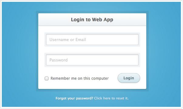 White Simple Login Form