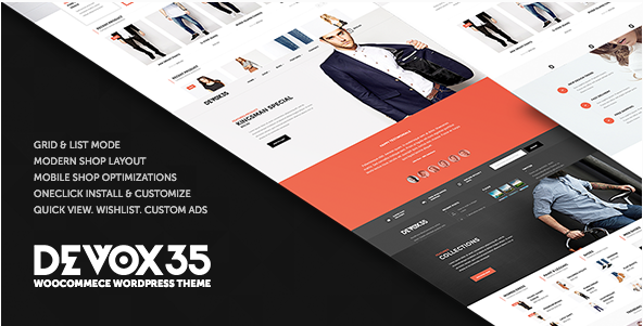 deVOX35 - WooCommerce WordPress Theme