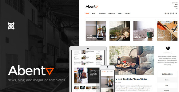 Abenta - Clean Blogging and Magazine Templates
