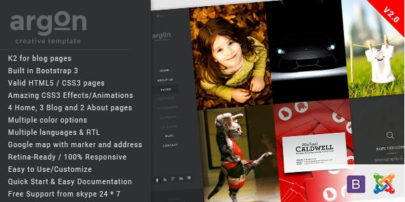 Argon - Creative Joomla Portfolio & Blog