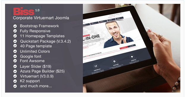 Biss - Corporate Virtuemart Joomla Template