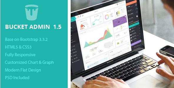 Bucket Admin Bootstrap 3 Responsive Flat Dashboard