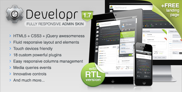 Developr - Fully Responsive Admin Skin