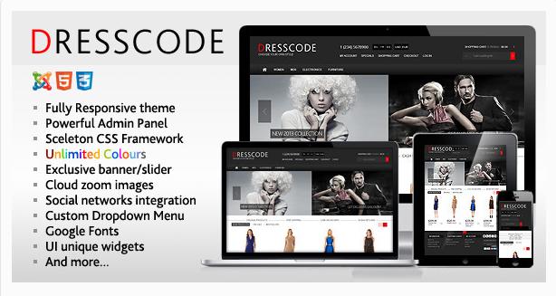 Dresscode - Responsive Joomla VirtueMart Theme