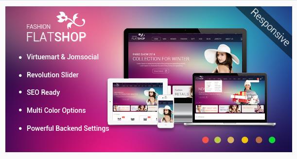 FlatShop - Virtuemart & JomSocial Template