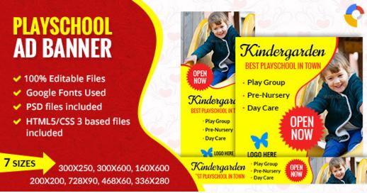 GWD Play School | Ad banner - 001