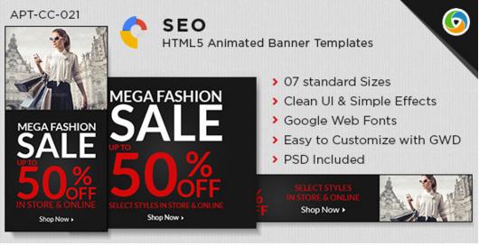 HTML5 Fashion Sale Banners - GWD - 7 Sizes