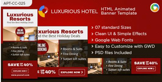 Hotel & Resort HTML5 Banners - Google Web Designer