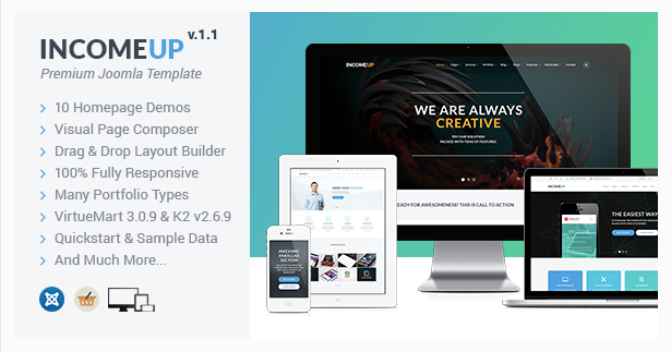 IncomeUp :: Multipurpose Business Joomla Template