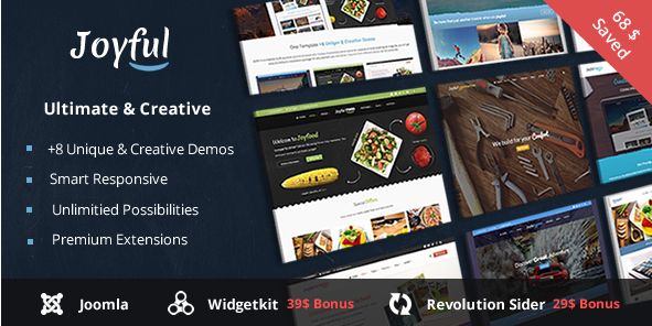 Joyful - Creative Multipurpose Joomla Template