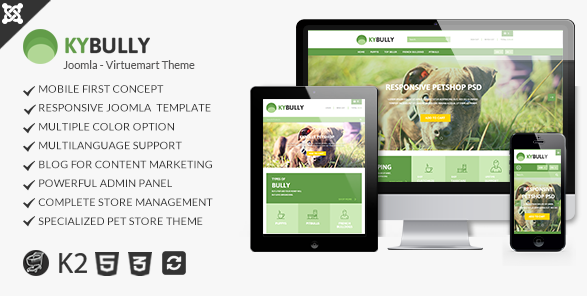 Kybully- Mobile First Joomla Virtuemart Theme