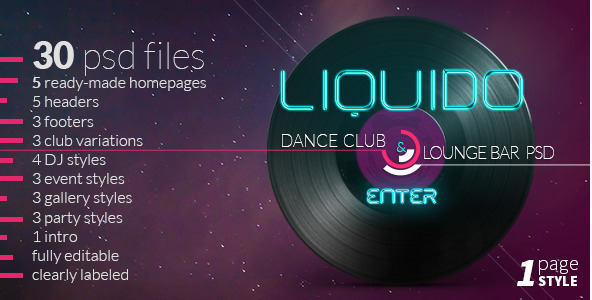 Liquido - Dance and Night Club Theme