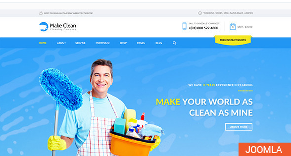 Make Clean | Cleaning Company Joomla Template