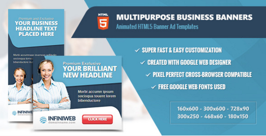 Multipurpose Business Banners - HTML5 Animation