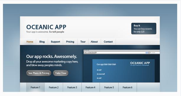 Oceanic: Web app site