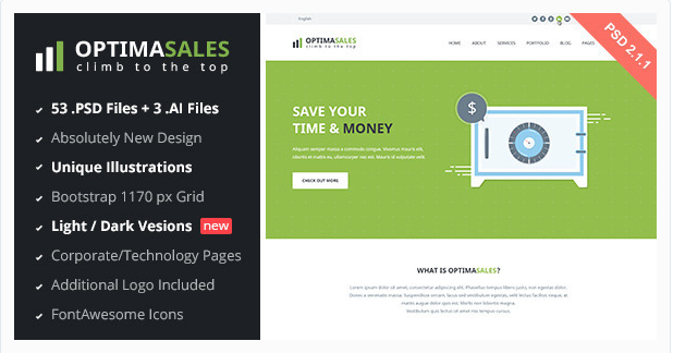 OptimaSales Business & Technology Template v2.1