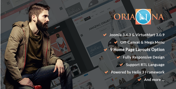 Orianna - Responsive VirtueMart 3 Fashion Template