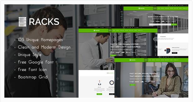 Racks | Web Hosting PSD Template