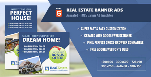 Real Estate Banner Ads - HTML5 Animated