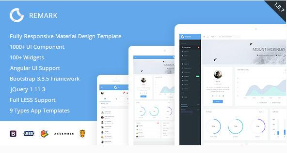 Remark - Responsive Bootstrap Admin Template