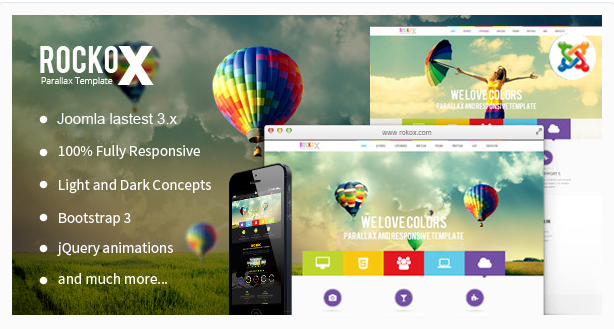 RockoX - One Page Parallax