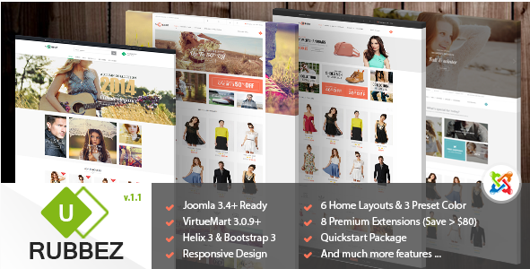Rubbez - Responsive Multipurpose Joomla Template