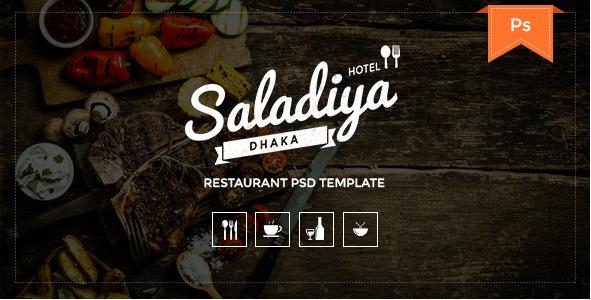 Saladiya - Restaurant PSD Template