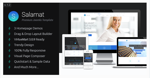 Salamat - Multipurpose Business Joomla Template