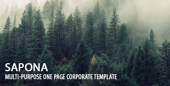 Sapona | Multi-Purpose One Page Corporate Template