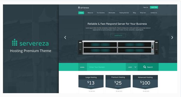 Servereza - Hosting Business Premium PSD Theme