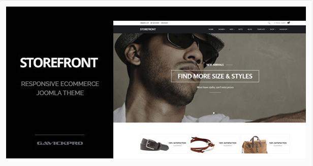 Storefront - Professional eCommerce Joomla Theme