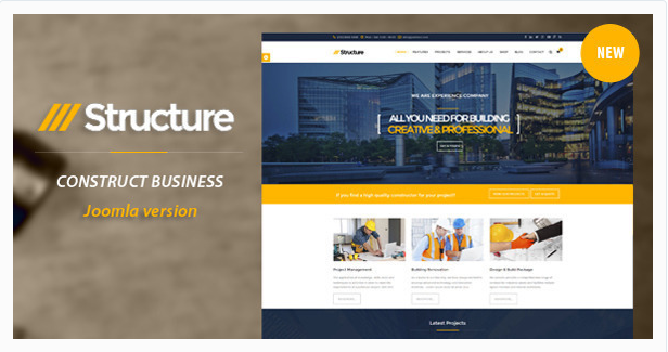 Structure - Construction VirtueMart Template