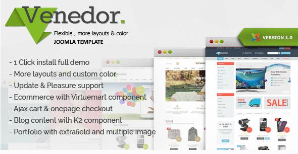 Venedor - Clean & Modern Template