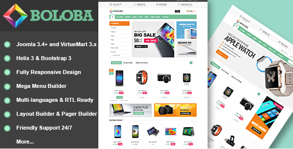 Vina Boloba - Digital Joomla & VirtueMart Template
