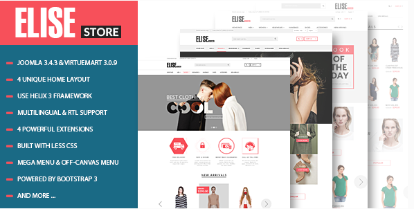 Vina Elise - Advanced Fashion VirtueMart Template