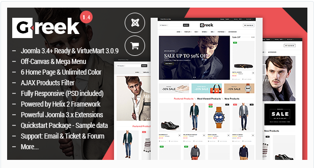 Vina Greek - Fashion VirtueMart 3 Template